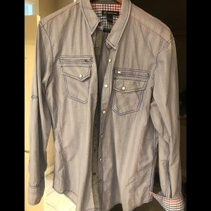 Other - Men's INC snap button down shirt